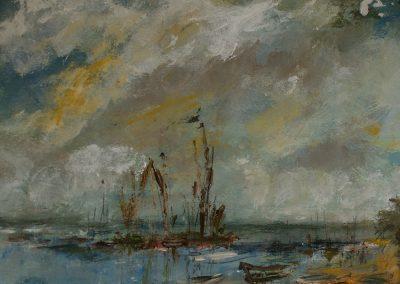 Wherries in the Estuary Mandy Selhurst Art