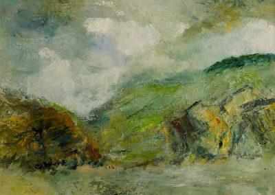 Looking Towards Stonebarrow Hill Charmouth West Dorset Mandy Selhurst Artist
