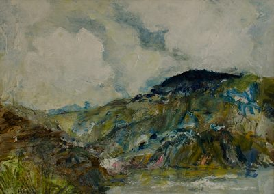 Langdon Woods from the Coast at Charmouth West Dorset Mandy Selhurst Art